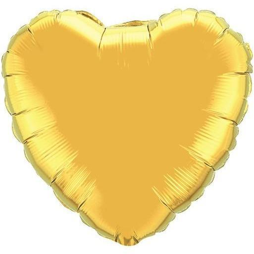 90cm Solid Colour Foil Hearts